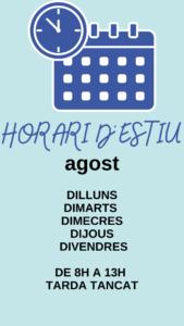 horari agost